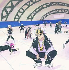 Team Skull on ice