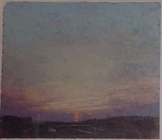 Michael Fairclough, At Dusk Medium,Oil on paper, size 8 x 7 Modern Art, Contemporary, Paper Size, Dusk, Oil, Medium, Painting, Painting Art, Paintings