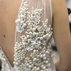 The pearly elegance of @naeemkhannyc 2016 bridal collection. All in the details! #NaeemKhann #pearldetail #pearldress #pearlgown #bridalgown #weddingdress #bweddingdress #bridaldress #bridalstyle #bridalfashion #weddingday #weddingbells #gettingmarried #i