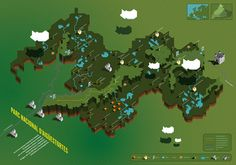 Isometric Map by Sergio Ortiz Ruiz, via Behance