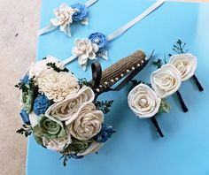 Ivory Boutonniere Made to Order Groom by CuriousFloralCrafts, $15.50