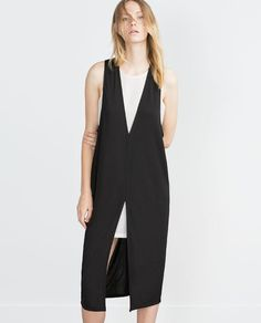 ZARA - WOMAN - TWO-TONE DRESS Fashion Styles, Fast Fashion, Womens Fashion Online, Fashion Over 50, Fashion Brands, Girl Fashion, Fashion Outfits, Shorts Under Dress, Dress Over Pants