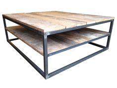 Étagère double récupéré Table basse en bois par PHweld sur Etsy
