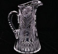 American Brilliant Cut Glass Libbey Quot Love Birds Quot Motif 9 Quot T Cut Glass Pinterest Discover