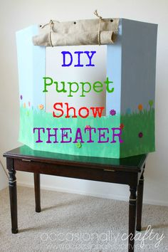 DIY Puppet Show Theater: Helping Children Express Emotions Through Play from Occasionally Crafty