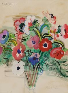 Raoul Dufy - Anemones