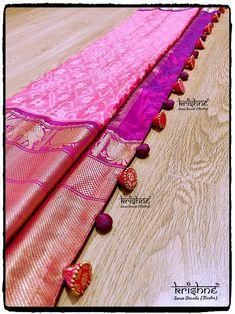 Saree Latkans | Designer Tassels | Saree Kuchu Saree Jacket Designs, Saree Tassels Designs, Saree Kuchu Designs, Silk Saree Blouse Designs, Saree Blouse Patterns, Fancy Blouse Designs, Saree Jackets, Saree Dress, Sari