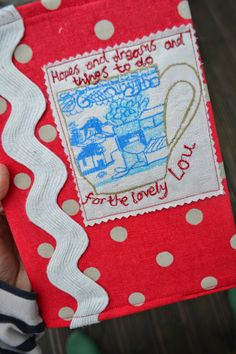 The first notebook!! Ordered by Jane for her sister in law Lou's birthday - her choice of words.