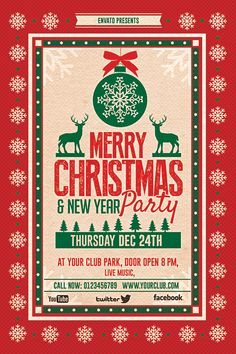 Christmas Party Flyer by creative artx , via Behance