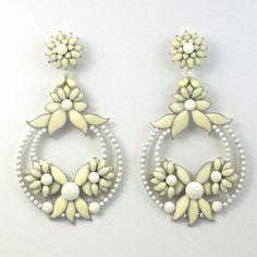 JJ Caprices - Flower Pendant Earrings by DUBLOS