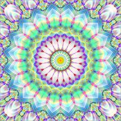 Christine Bässler - Patchwork Mandala hellblau