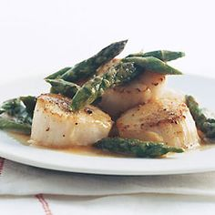 Scallops with Asparagus - made this delicious dish tonight for dinner, included some snow peas, as well.