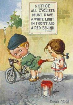 all cyclists must have a white light in front and a red behind!