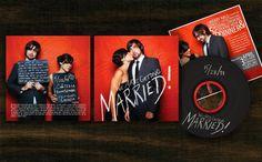 CD wedding invitation  - we make CD, vinyl invites. www. unifiedmanufacturing.com