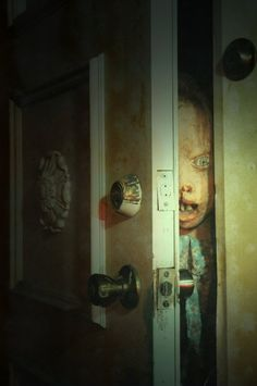 This would be a fun set up for your closet door at a house party. Just leave it ajar. http://www.thecreepyhousenextdoor.com/khaunt11025.jpg