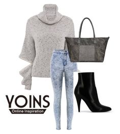 """YOINS III-8"" by hanifasemic ❤ liked on Polyvore featuring moda, Yves Saint Laurent y yoins"