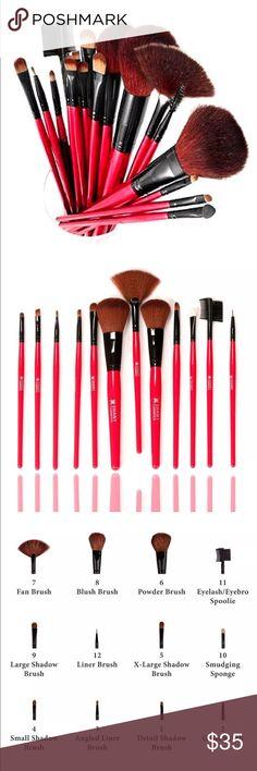 Shany Cosmetics  Natural Bristle 12 Makeup Brush Shany Cosmetics 12 PC brush set. All natural goat / badger hair bristles. Shany Cosmetics Makeup Brushes & Tools