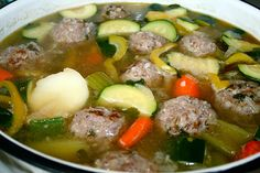 Mexican Meatball Soup to die for.