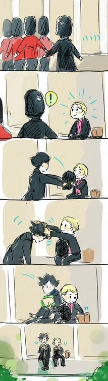 I love how Sherlock lets John ruffle his hair before he sits down. SO DARN CUTE.
