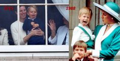 Prince George vs Prince Harry at Trooping the Colour (June 2015).
