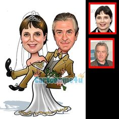 wedding bride hold groom - Caricature from photo | Cartoon Caricature | Cartoonme4u.com