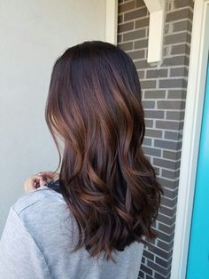 dark brown hair with balayage caramel by:stephanie stegmeier