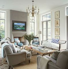 an amazing resource...Westchester NY decorator Laurel Bern shares her most popular living rooms on pinterest and a few surprises you won't want to miss