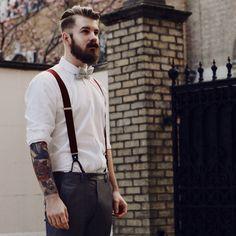 beards + tats #inked #bowtie