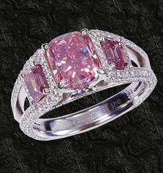 I love pink rings.