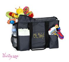 Need a diaper bag? Try our Zip-Top Organizing Utility Tote!