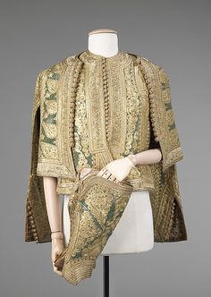 Albanian Ensemble 1900-1910 silk, wool, and metal. Vest, jacket and gaiters