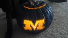 University of Michigan pumpkin for Halloween