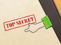 Paper Clip Concept by Alexander Yaremchuk #design #paper #table #concept #ps #ayaremchuk #folder #document #paperclip #secret #topsecret