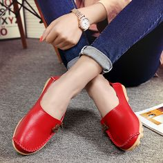 Big Size Soft Multi-Way Wearing Pure Color Flat Loafers is cheap and comfortable. There are other cheap women flats and loafers online Mobile. I Love My Shoes, Fall Booties, Loafers Online, Skirts With Pockets, Loafers For Women, Women Sandals, Types Of Shoes, Womens Flats, Loafer Flats