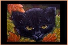 Art 'BLACK CAT 210 - HALLOWEEN' - by Cyra R. Cancel from Gallery