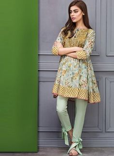 These 30 Pakistani Lawn suits will change all your perceptions about suits and Kurtis. Loaded with fresh designs and color, these Lawn suits Pakistani Fashion Casual, Pakistani Dresses Casual, Pakistani Dress Design, Asian Fashion, Pakistani Designers, Pakistani Dresses Online, Indian Dresses, Indian Outfits, Stylish Dresses