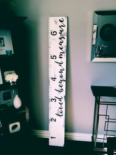 Loved beyond measure distressed white hand painted wooden growth chart growth ruler by Lavish Olive Studios                                                                                                                                                                                 More
