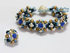 Bead Tutorial - [Tutorial] Elegancia floral del adorno y anillo