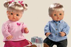 niña rosa- azul niño