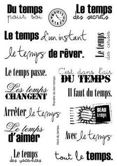xx French Phrases, French Quotes, Quote Memories, Message Positif, Travel Photo Album, Photo Album Scrapbooking, Lettering, Digital Stamps, Junk Journal