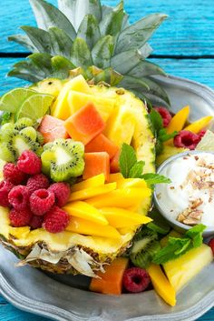 This recipe for tropical fruit salad is a colorful mixture of tropical fruit…