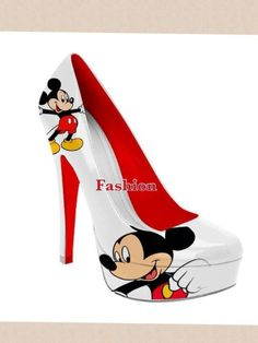 Mickey Mouse high heel shoes