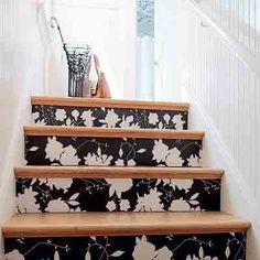 decoupage your stair risers!