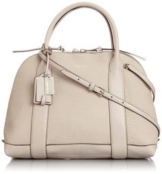 Women's Shoulder Bags - Coach Bleecker Preston Satchel 30144 in Pebbled Leather Silver Ecru Grey * Visit the image link more details.