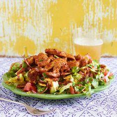 Chipotle Chicken Tortilla Salad #TexMex #30MinuteMeals