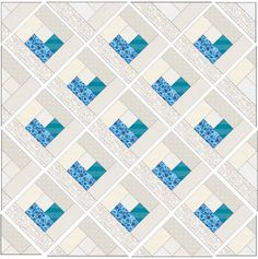 Sewing For Beginners Baby Heart Log Cabin Quilt - Free Quilt Pattern ❤️ — SewCanShe Heart Quilt Pattern, Log Cabin Quilt Pattern, Baby Quilt Patterns, Log Cabin Quilts, Sewing Patterns, Quilting Patterns, Log Cabins, Quilting Ideas, Quilt Baby