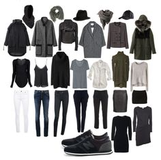 Grey capsule wardrobe. Love this.