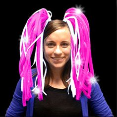 Your night out just got a lot more exciting with the Pink Light Up Dreads. These…