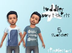 Sims 4 CC's - The Best: Toddlers Shirts by pixiesandghosts