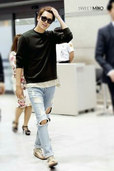 (Part 4)In 08-08-2015 Lee Min Ho go to Airport back from Nanjing.